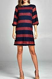Renee C Stripe Knit Dress - Product Mini Image