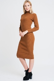 Renee C Turtleneck Sweater Dress - Front full body