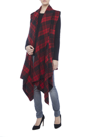 Renee C. Red Plaid Vest - Front full body