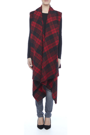 Renee C. Red Plaid Vest - Front cropped