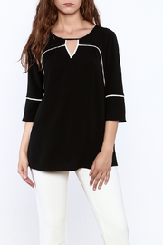 Renuar Black Tunic Top - Product Mini Image