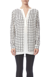 Renuar White Check Blouse - Side cropped
