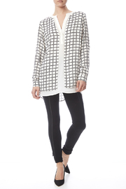 Renuar White Check Blouse - Front full body