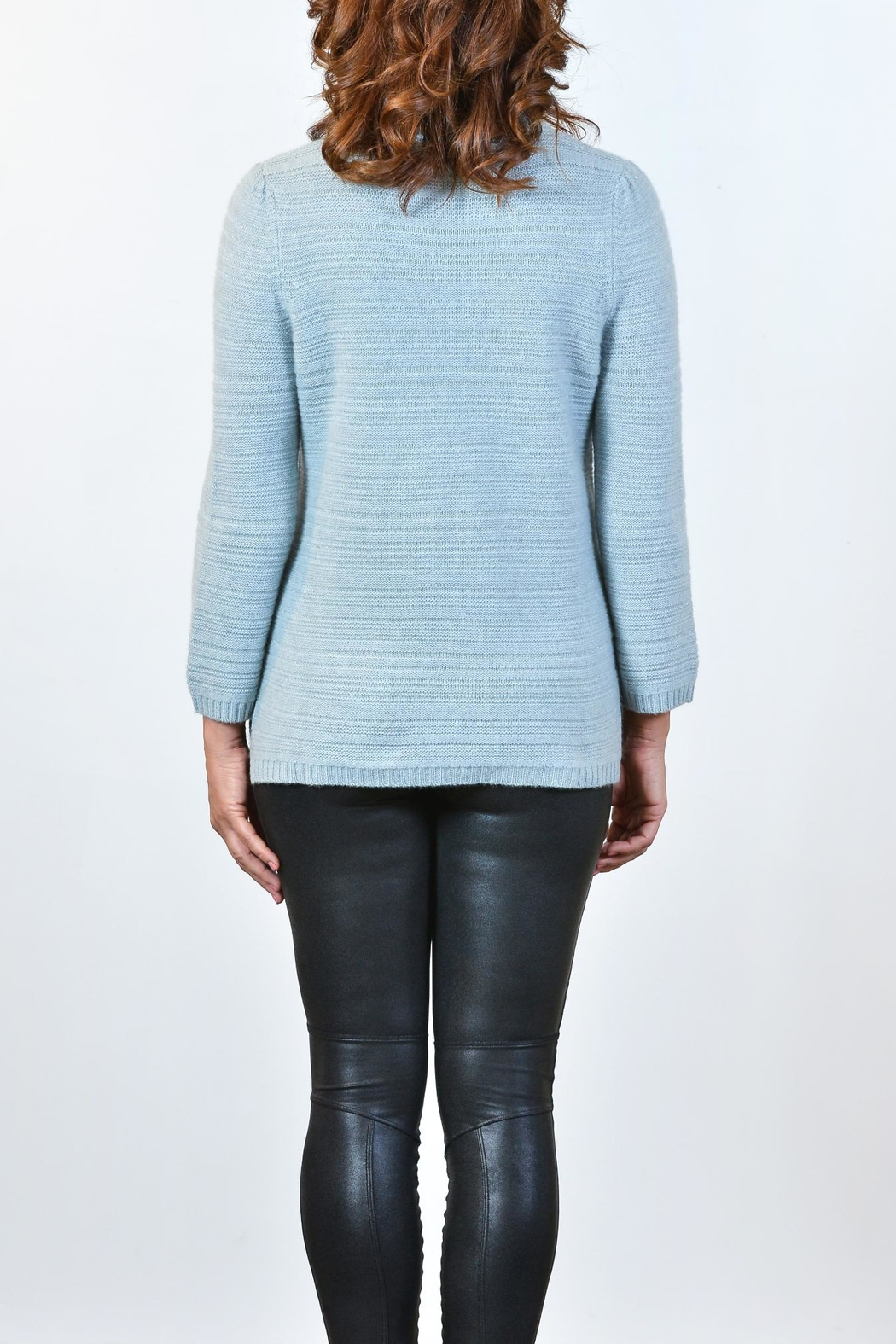 Repeat Lurex Accent Mock Top - Front Full Image
