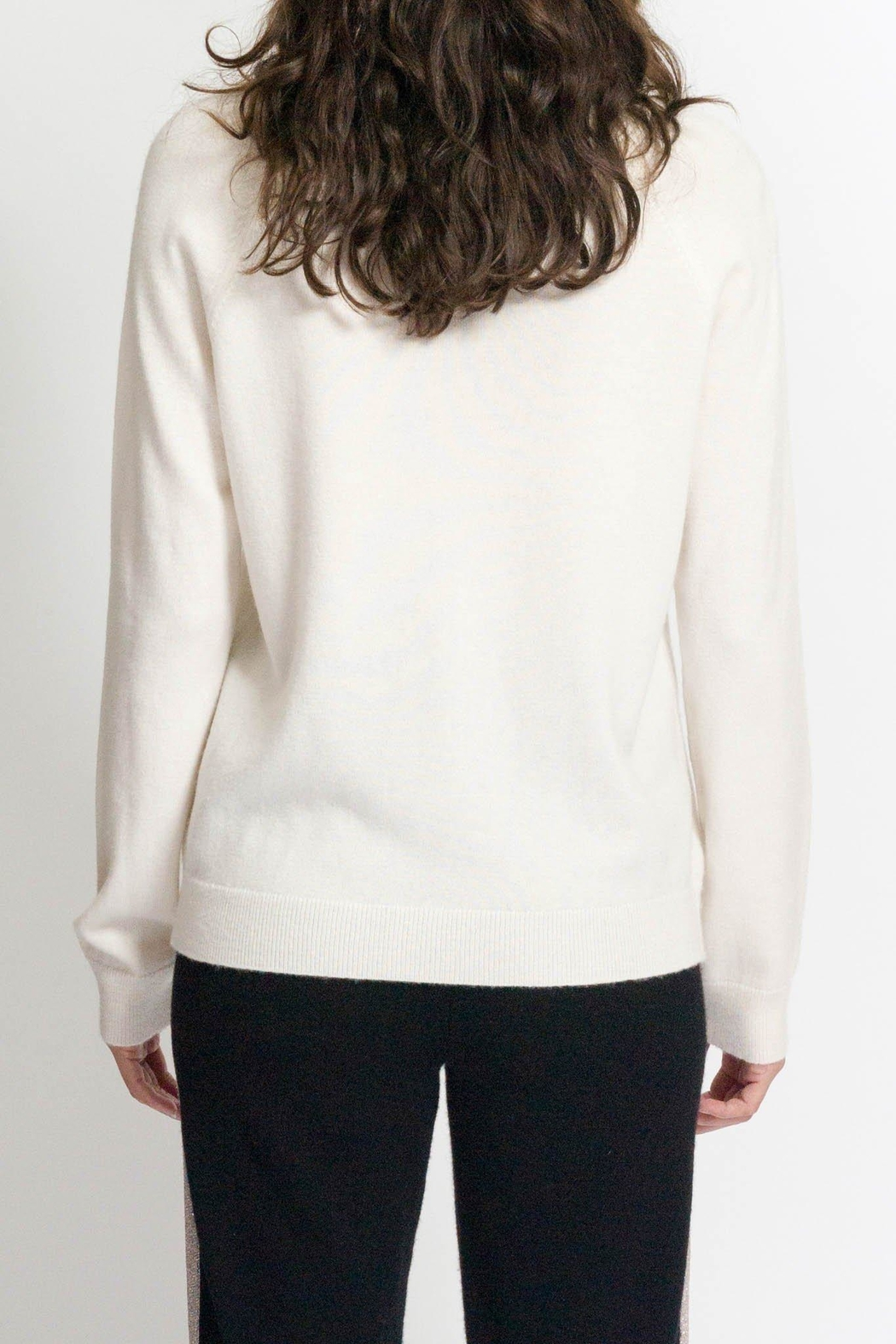 Replica Los Angeles Cashmere Vinyl Sweater - Side Cropped Image