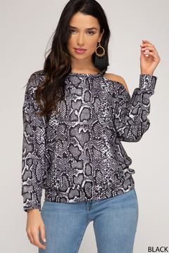 Shoptiques Product: Reptile Asymetrical Top
