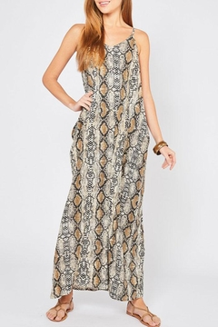 Entro Reptile Print Maxi-Dress - Product List Image