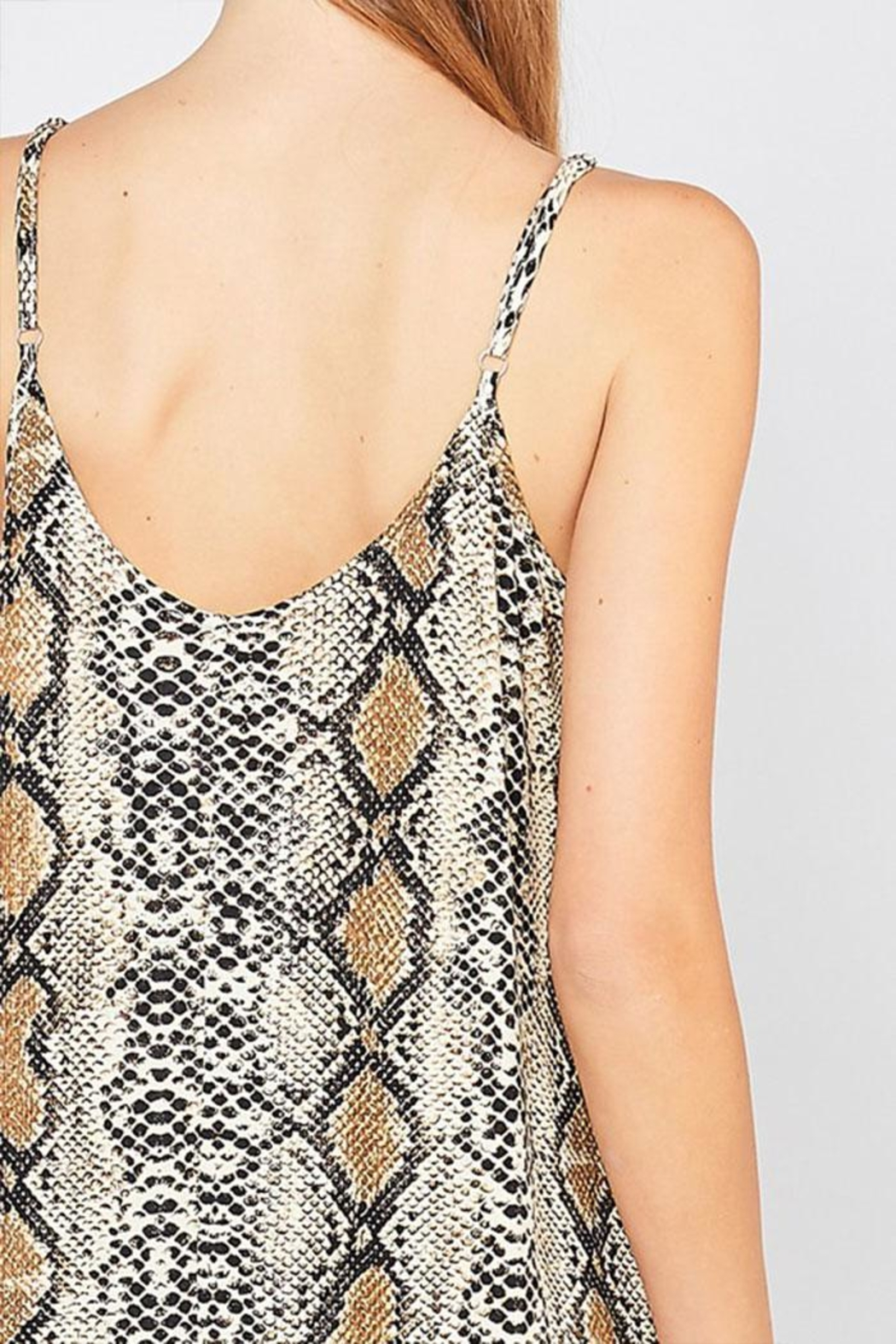 Entro Reptile Print Maxi-Dress - Back Cropped Image