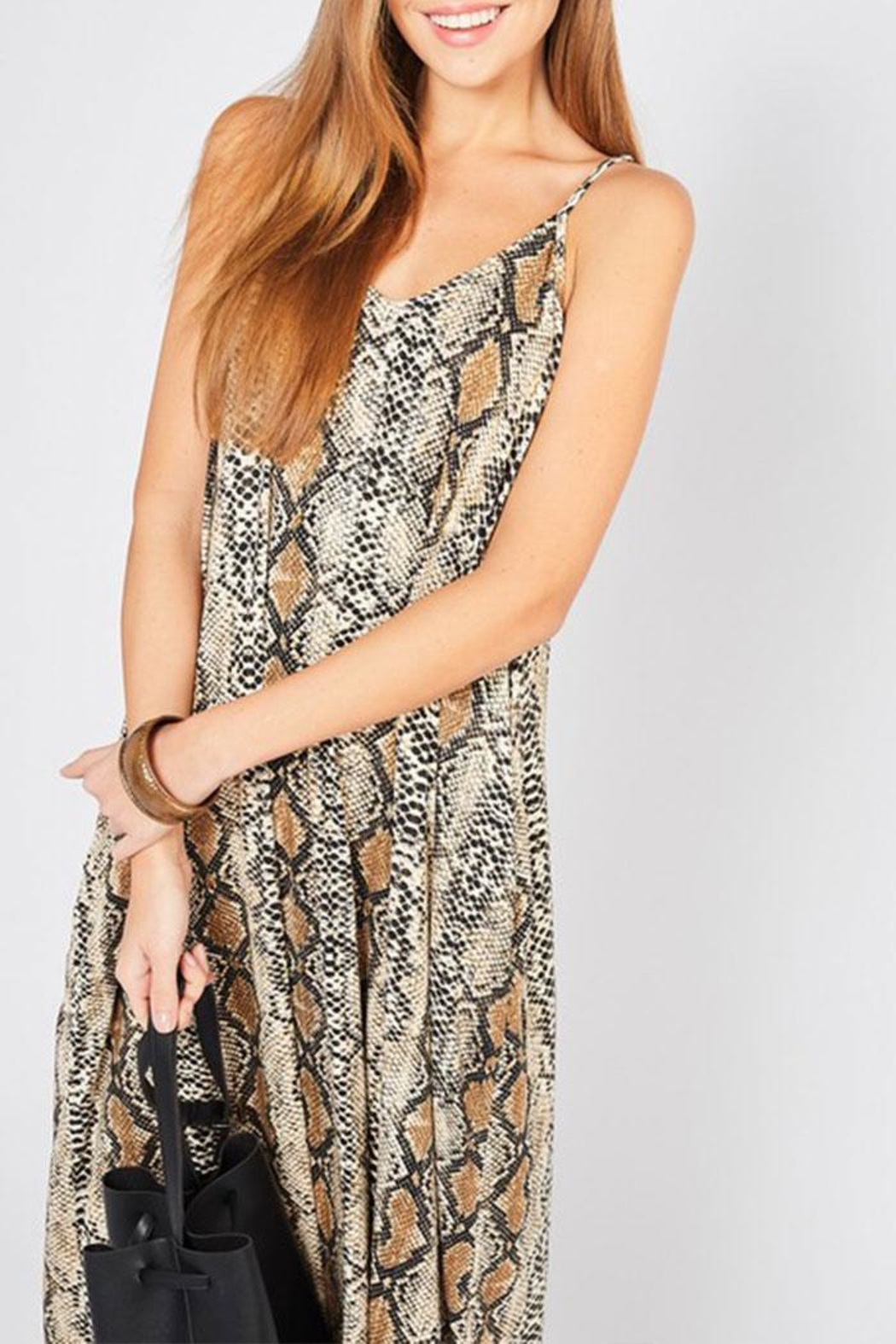 Entro Reptile Print Maxi-Dress - Front Full Image