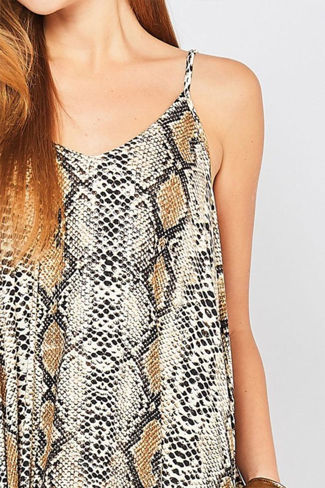 Entro Reptile Print Maxi-Dress - Side Cropped Image