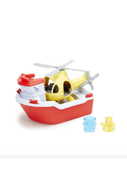 Green Toys Rescue Boat & Helicopter - Product Mini Image