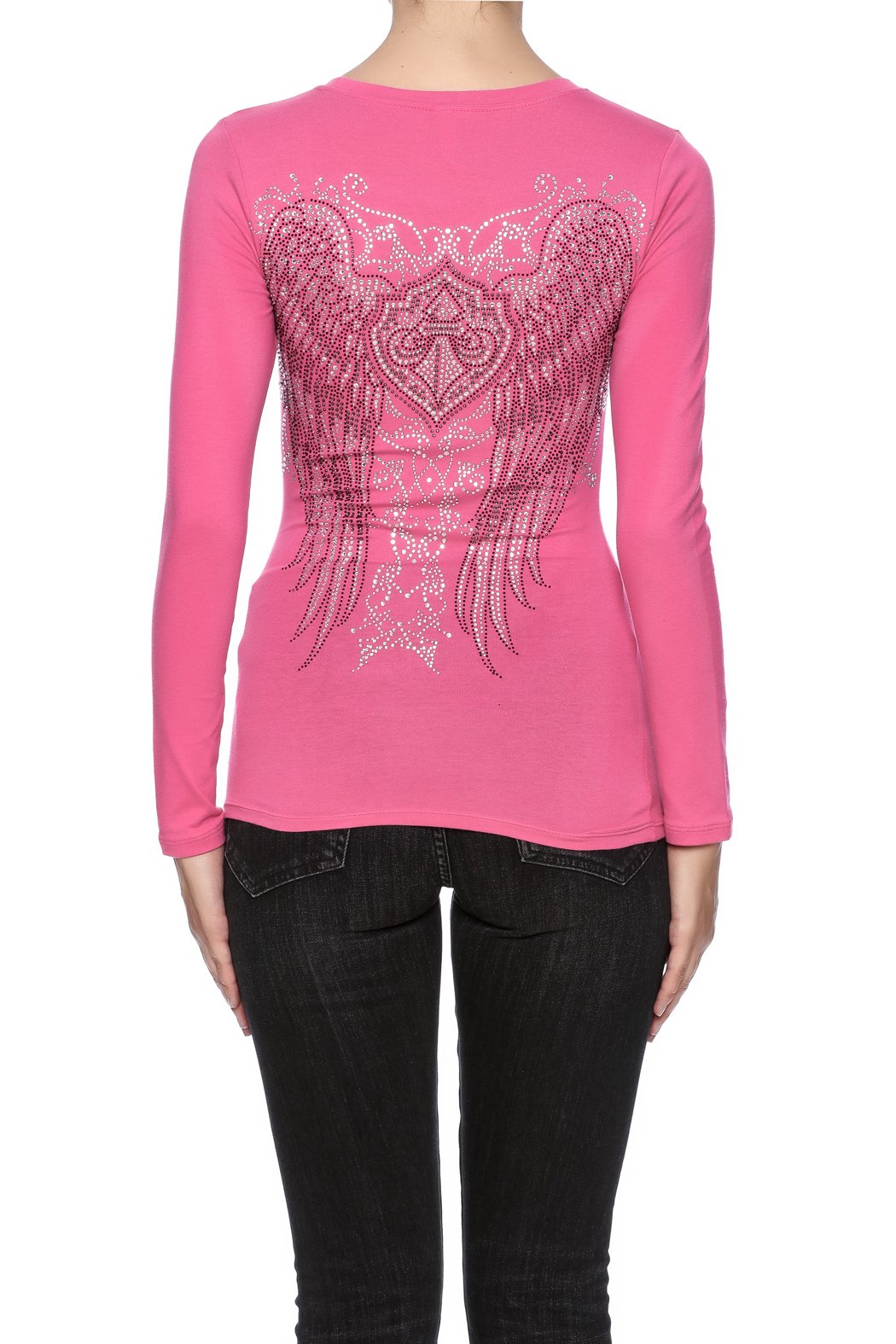 Rhinestone wing top shoptiques for Boutique tops