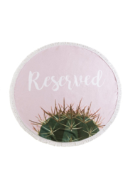 Shiraleah Reserved Round Beach Towel & Bag - Front cropped