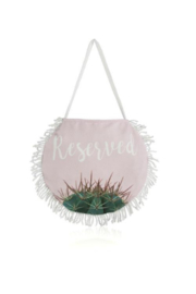 Shiraleah Reserved Round Beach Towel & Bag - Front full body