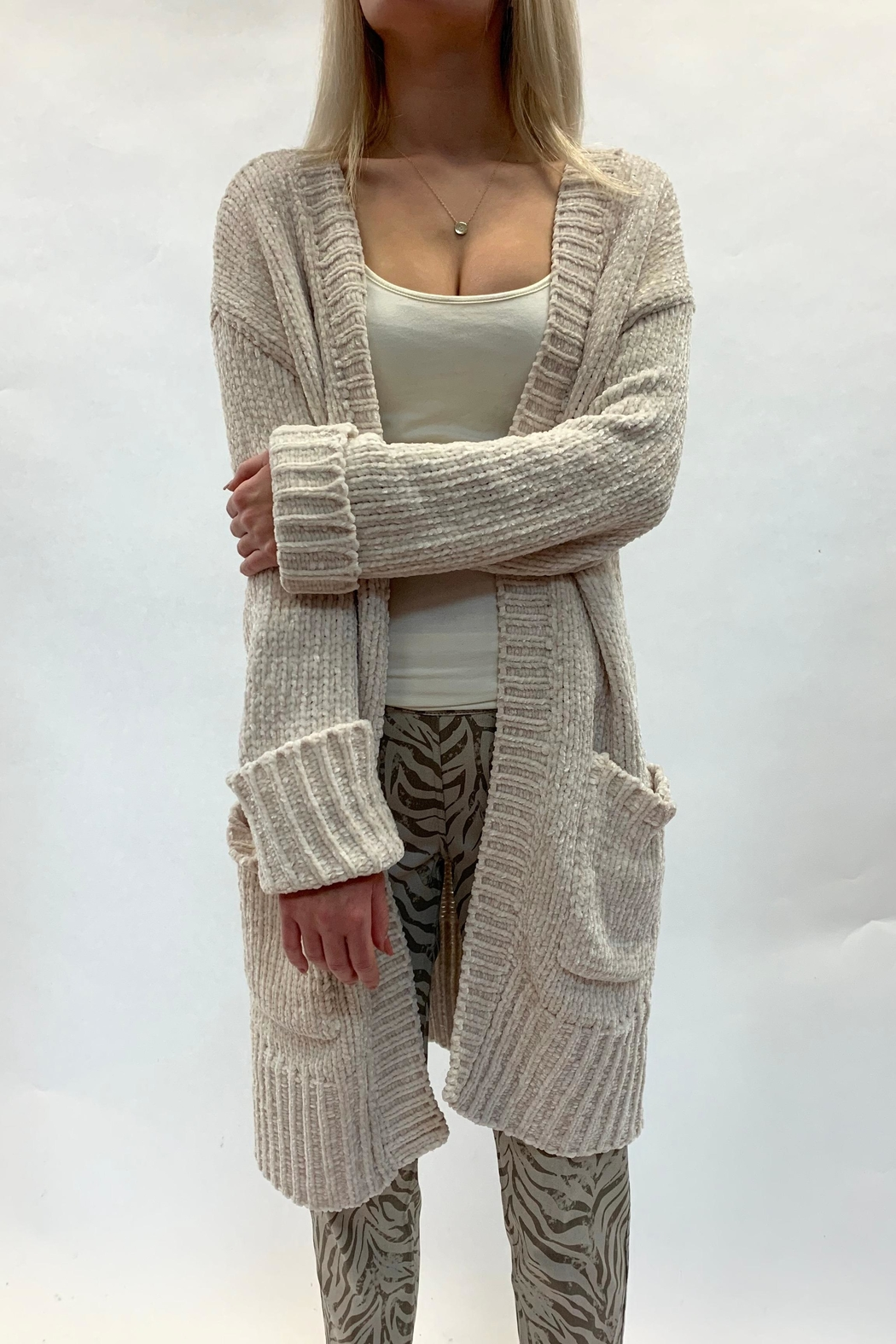 RESET BY JANE Ivory Cardigan - Front Full Image