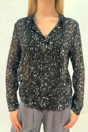RESET BY JANE Sheer Floral Blouse - Product Mini Image