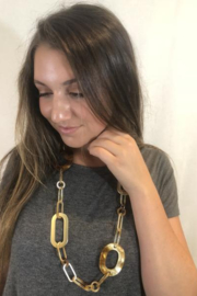 Blue Sky Resin Chain Necklace - Front cropped