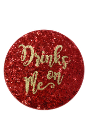 Gift Craft Resin Glitter Coasters - Front cropped