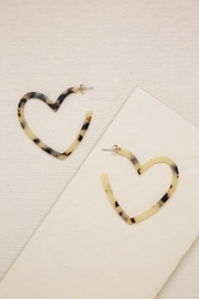 Ettika Resin Heart-Hoop Earrings - Product Mini Image
