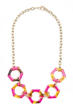 Shoptiques Product: Resin Hexagon Necklace
