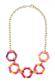 Zenzii Resin Hexagon Necklace - Product Mini Image