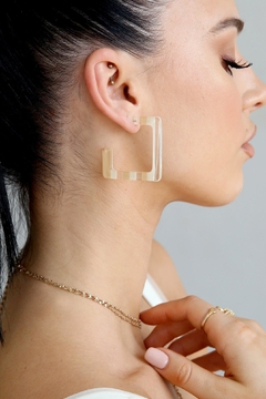 Ettika Resin Squared-Off Earrings - Product List Image