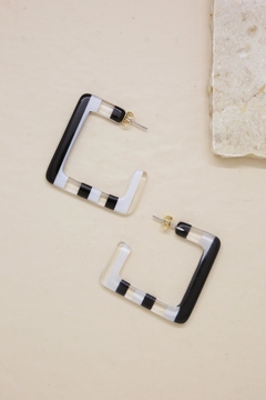 Shoptiques Product: Resin Squared-Off Earrings