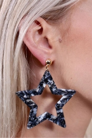 Caroline Hill Resin Star Earring - Product Mini Image