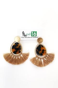 My Girl in LA Resin with Tassel Earrings - Alternate List Image