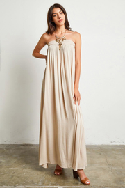 MONTREZ RESORT COLUMN MAXI DRESS - Product Mini Image