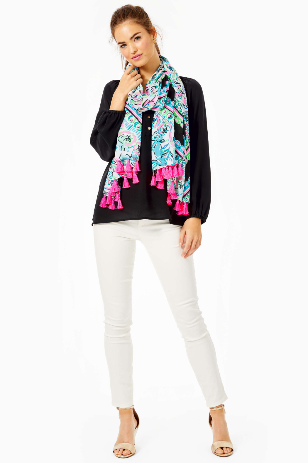 Lilly Pulitzer  Resort Scarf - Back Cropped Image