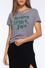 Suburban riot Resting Grinch Face Deconstructed Tee - Product Mini Image