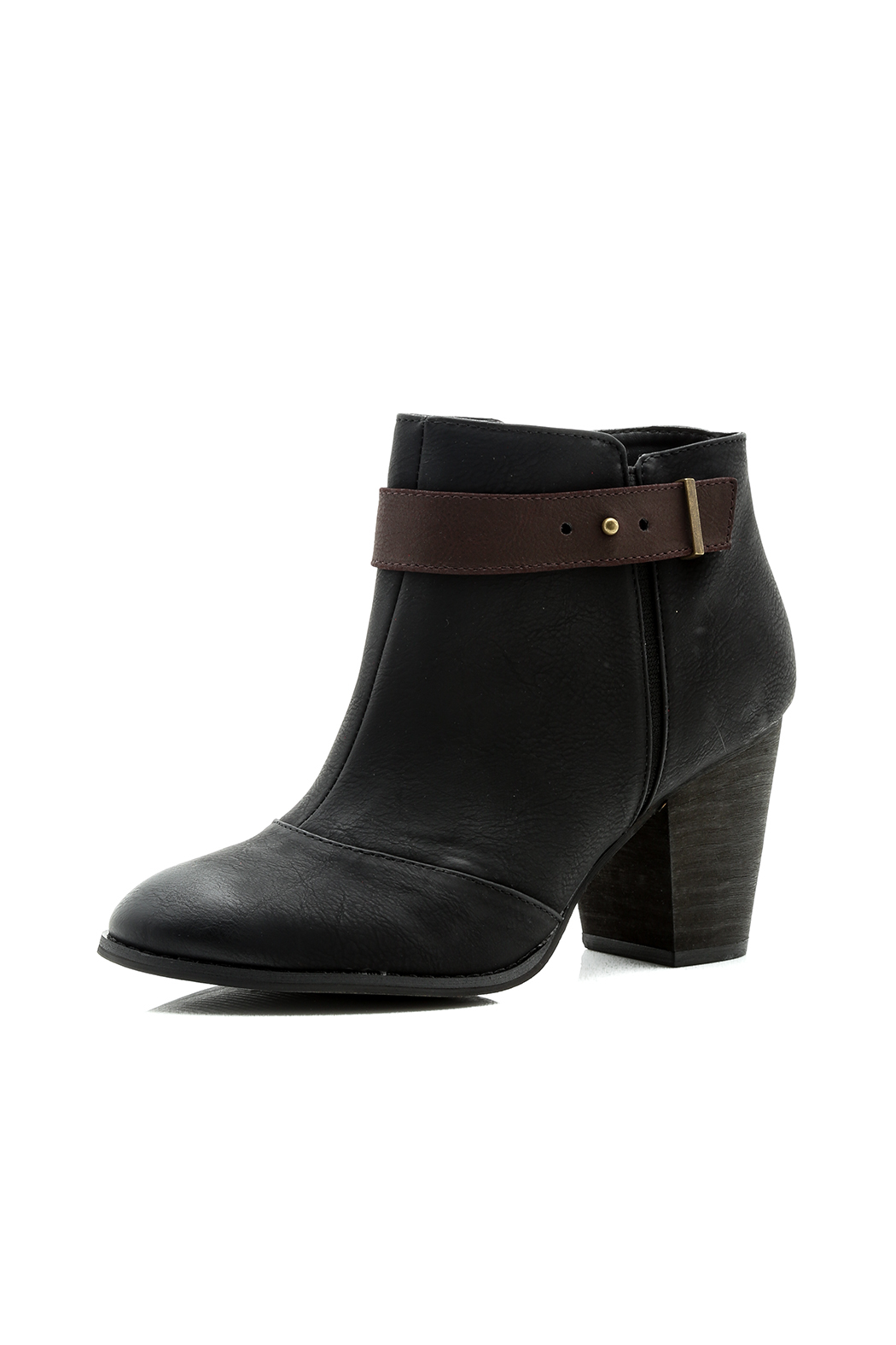 Restricted Chunky Heel Booties - Back Cropped Image