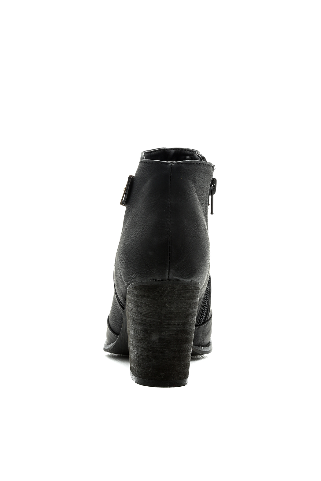 Restricted Chunky Heel Booties - Front Full Image