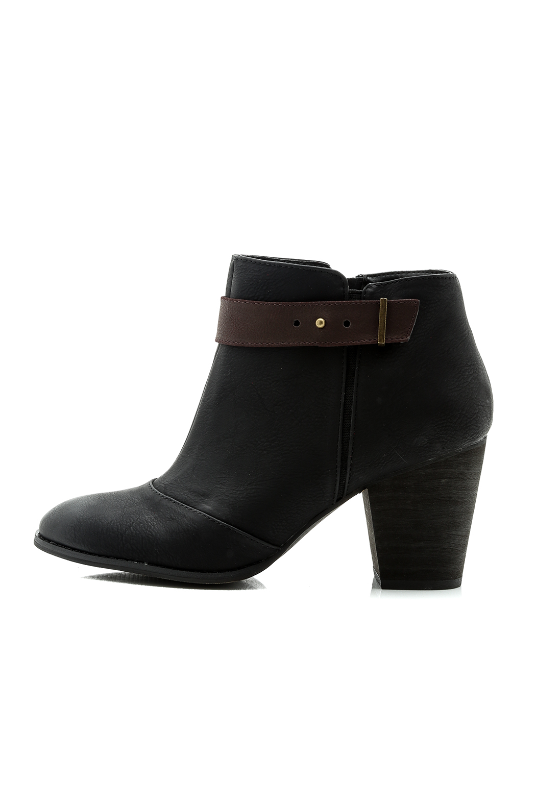Restricted Chunky Heel Booties - Main Image