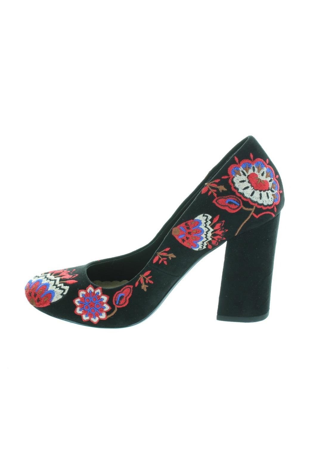 Restricted Embroidered Pumps - Side Cropped Image