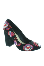 Restricted Embroidered Pumps - Front full body