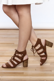 Restricted Brown Lace-Up Sandal - Product Mini Image