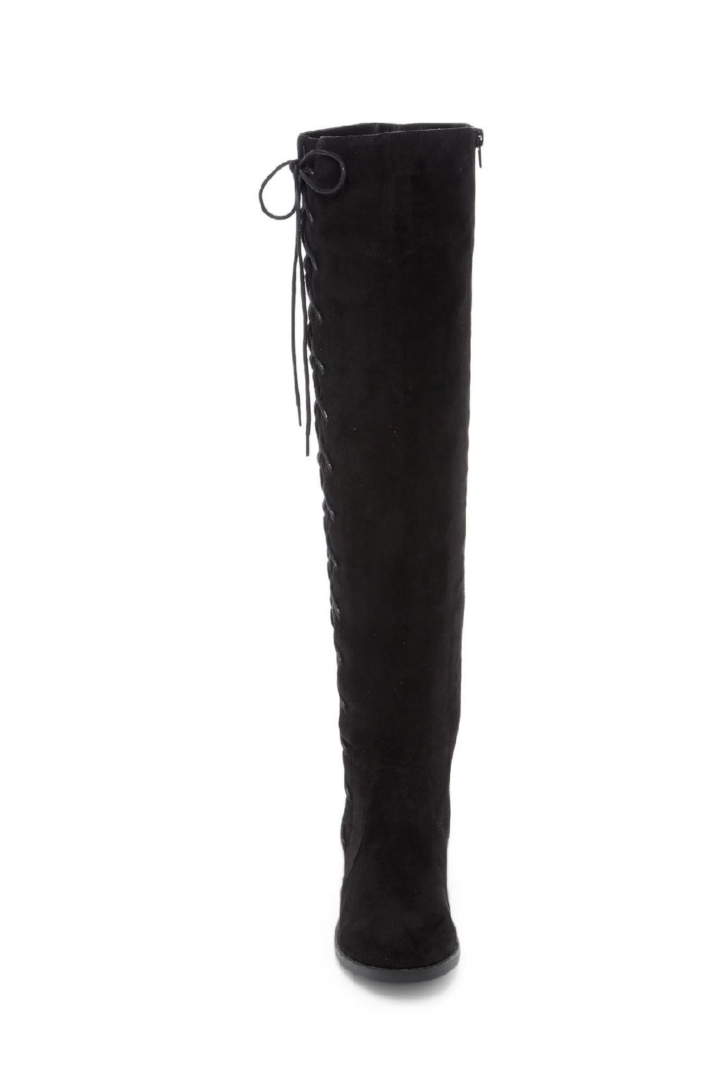 Restricted Over The Knee Boots - Side Cropped Image