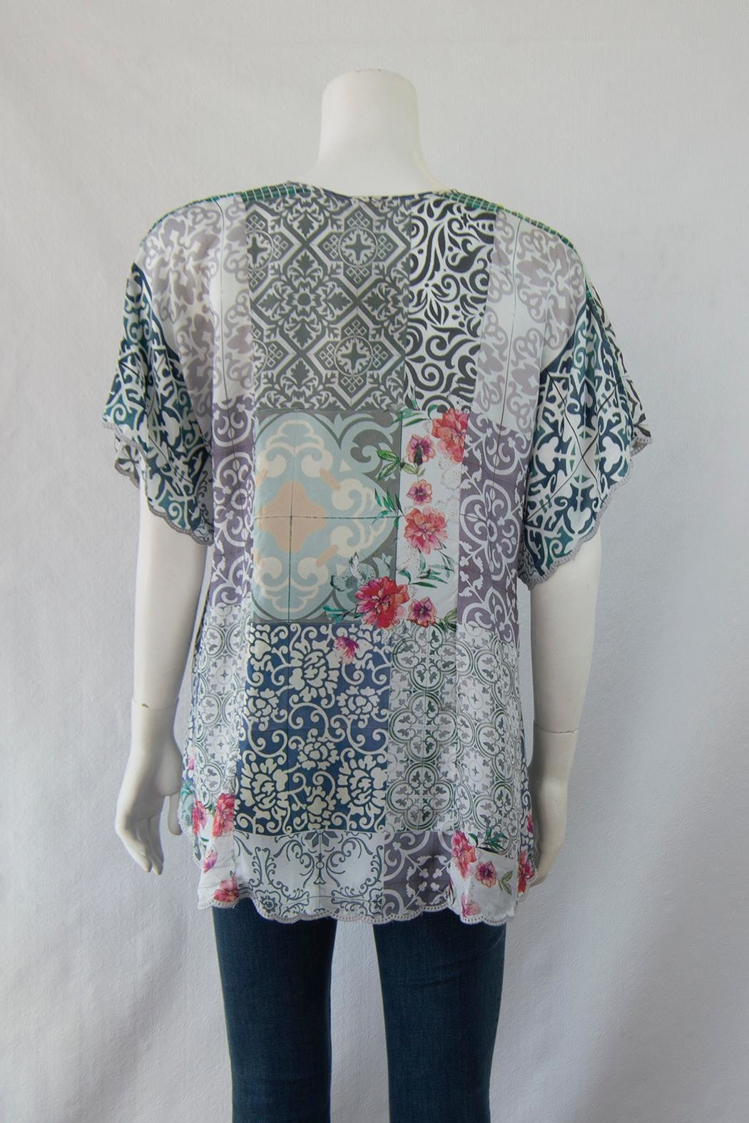 Johnny Was Collection Retrix  Silk Blouse - Front Full Image