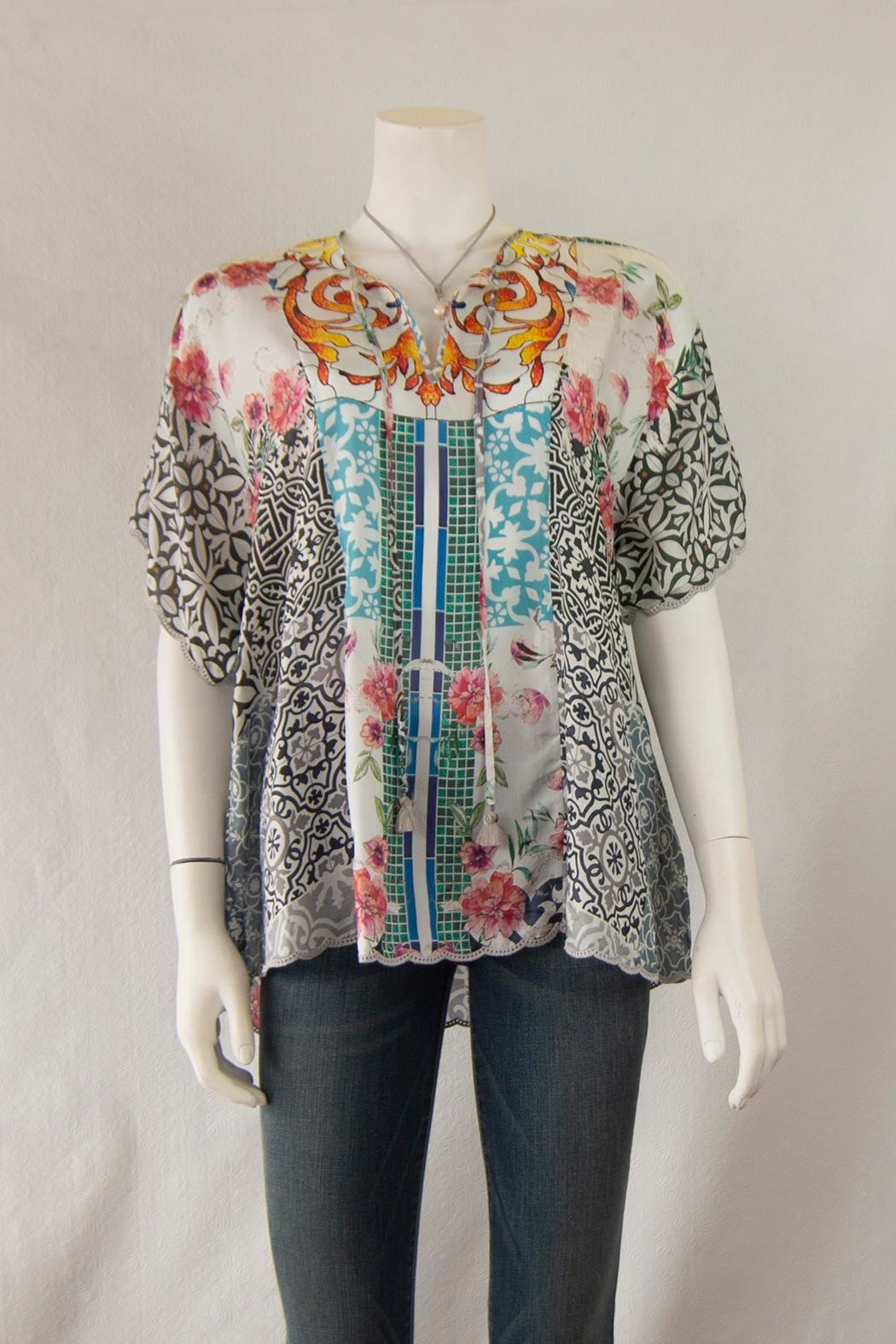 Johnny Was Collection Retrix  Silk Blouse - Main Image