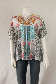 Johnny Was Collection Retrix  Silk Blouse - Product Mini Image