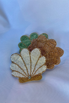 Shoptiques Product: Retro Beaded Shell coin purse