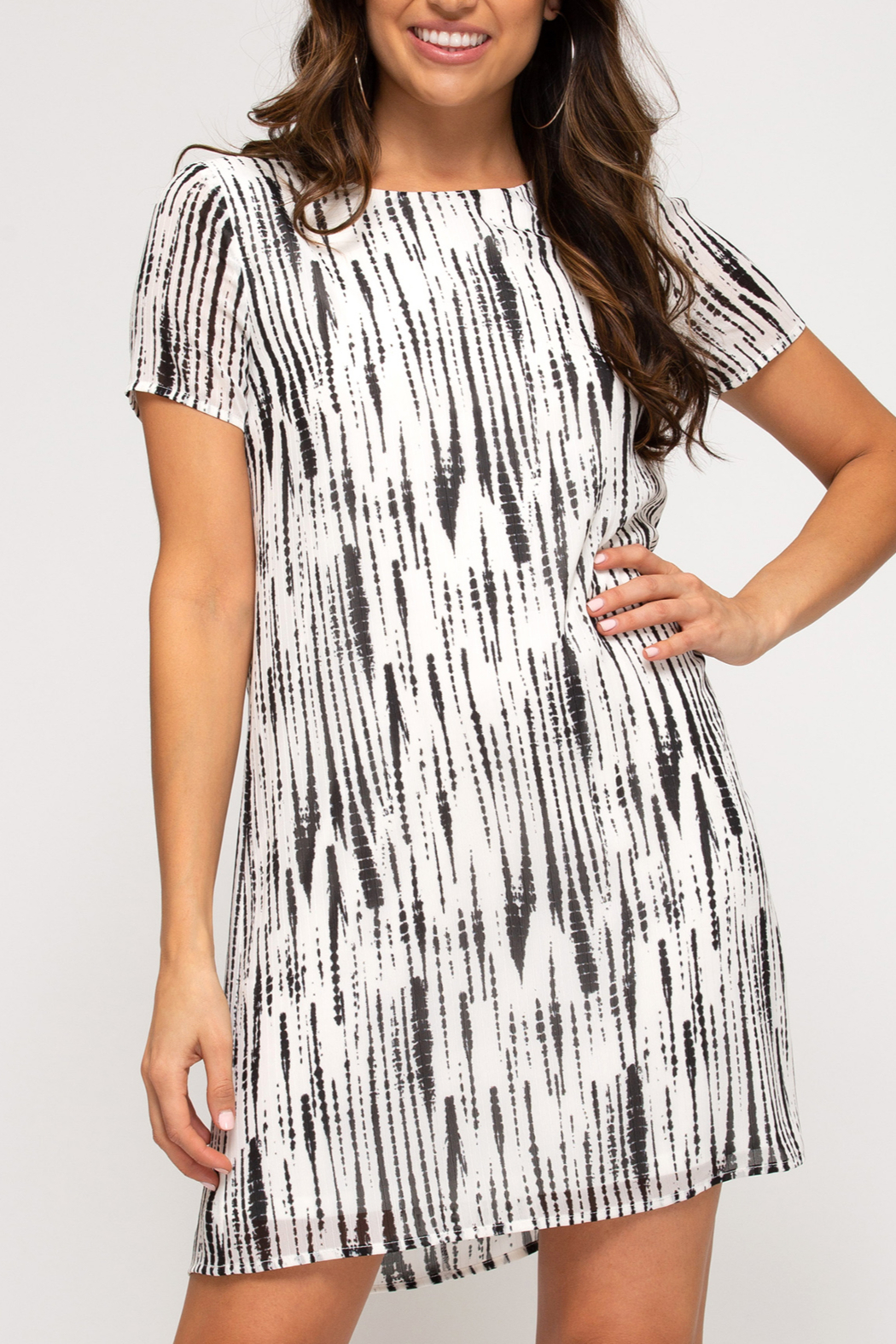 She and Sky Retro Beauty dress - Front Cropped Image