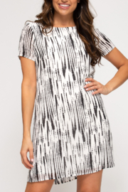 She and Sky Retro Beauty dress - Front cropped
