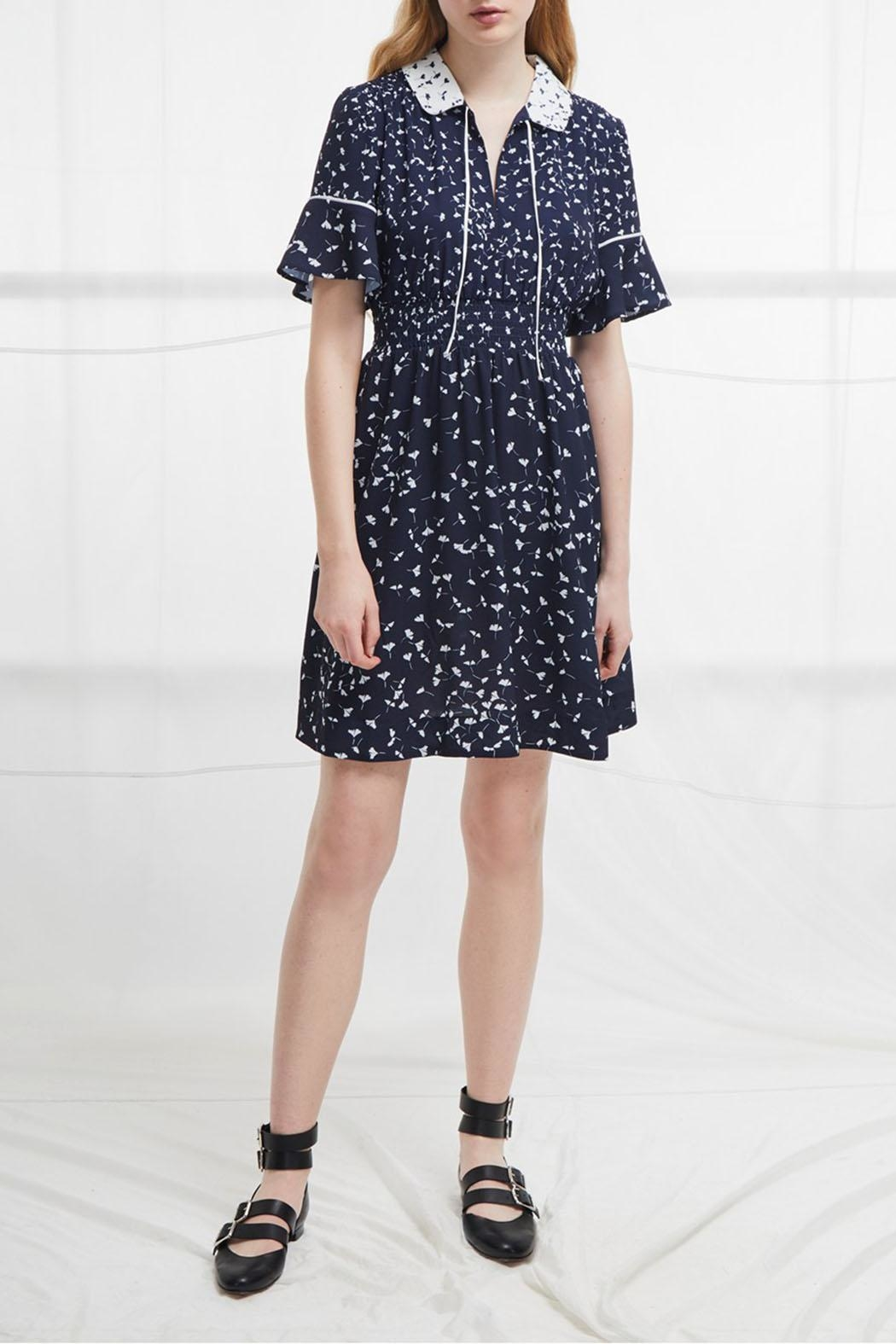 French Connection Retro Flared Dress - Front Full Image