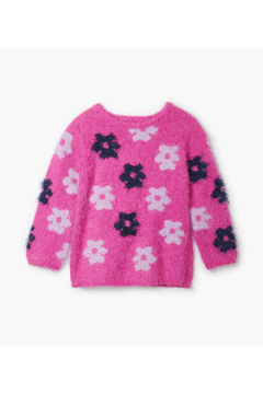 Hatley Retro Flowers Fuzzy Sweater - Alternate List Image