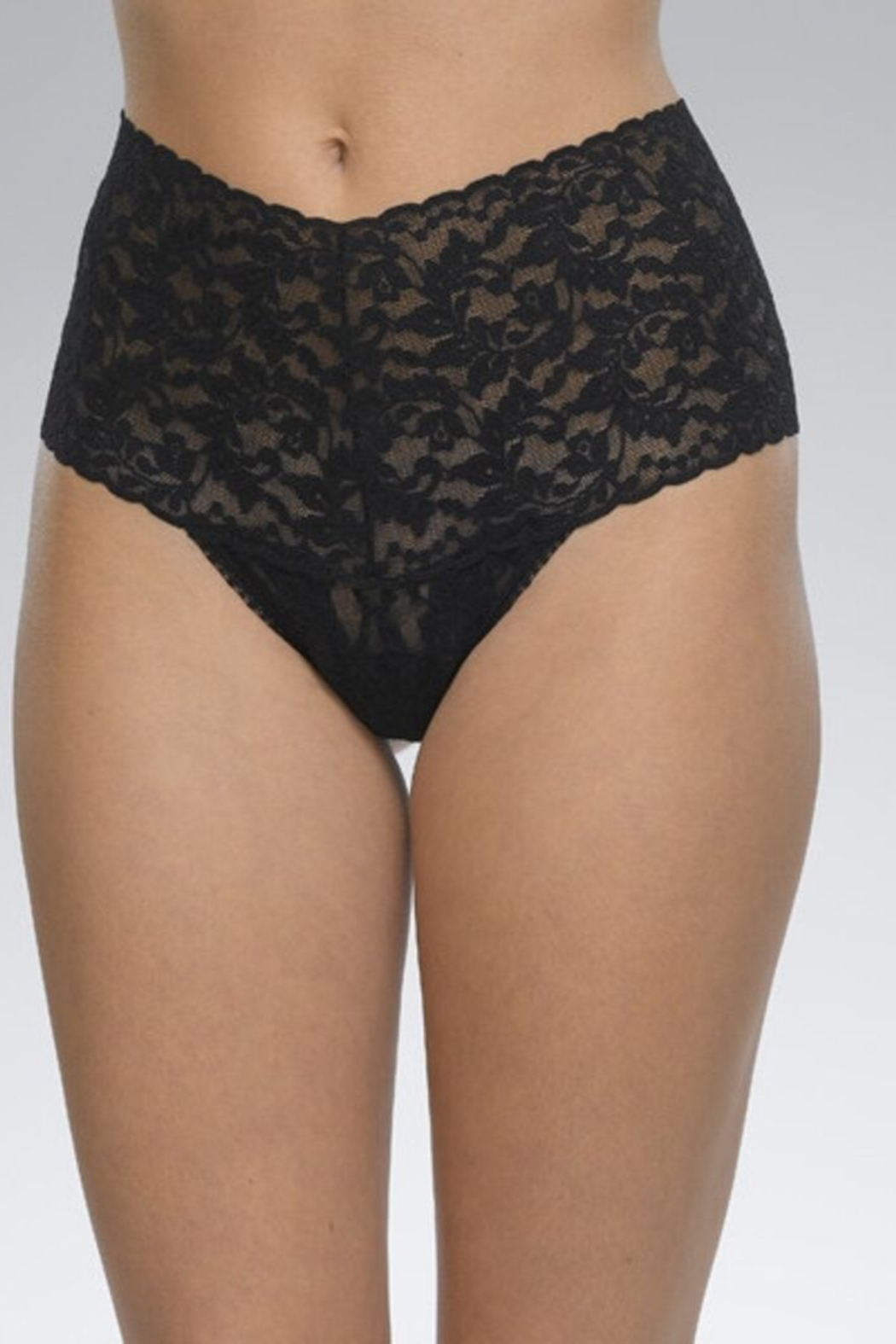 Hanky Panky Ltd. Retro Lace Thong - Front Cropped Image