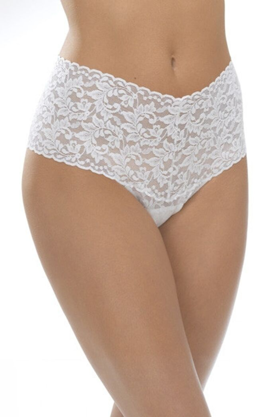 Hanky Panky Retro Lace Thong - Front Cropped Image