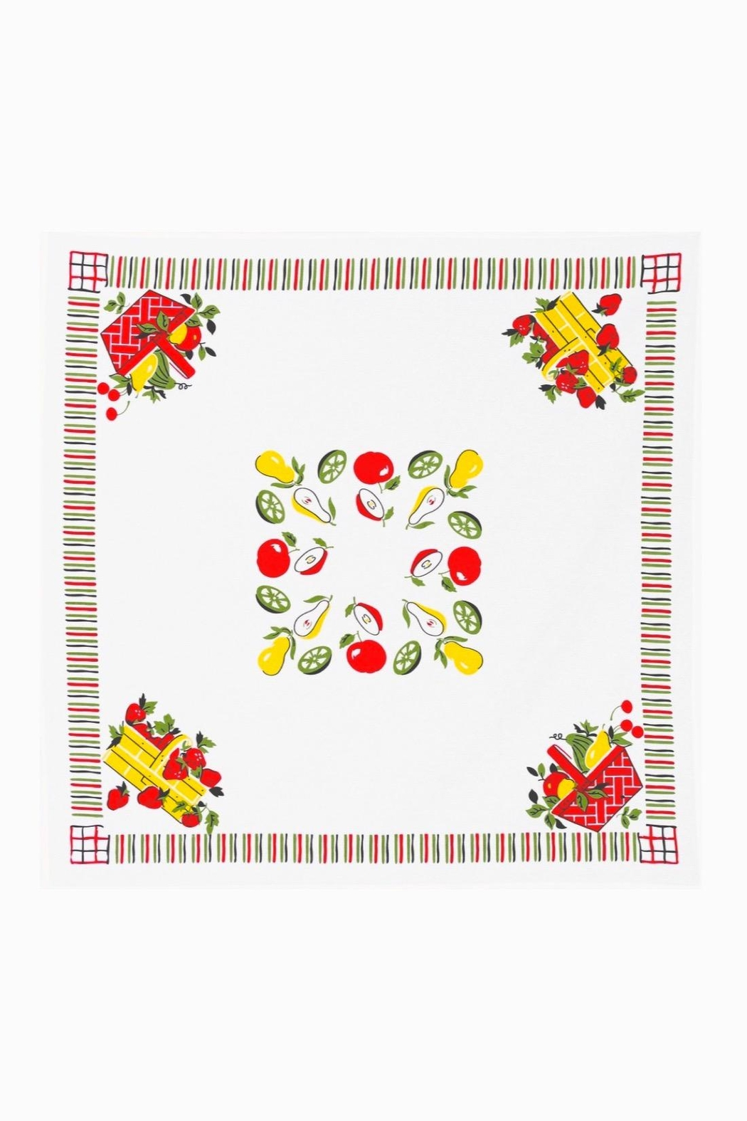 Red and White Kitchen Co. Retro Picnic Tablecloth - Main Image